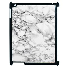 White Marble Texture Floor Background With Black Veins Texture Greek Marble Print Luxuous Real Marble Apple Ipad 2 Case (black) by genx