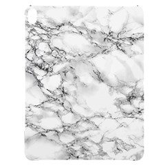 White Marble Texture Floor Background With Black Veins Texture Greek Marble Print Luxuous Real Marble Apple Ipad Pro 12 9   Black Uv Print Case by genx