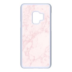 Pink Marble Texture Floor Background With Light Pink Veins Greek Marble Print Luxuous Real Marble  Samsung Galaxy S9 Seamless Case(white) by genx