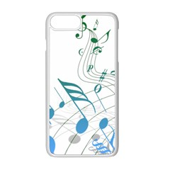 Music Notes Iphone 8 Plus Seamless Case (white)