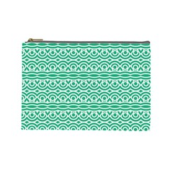 Pattern Green Cosmetic Bag (large) by Mariart