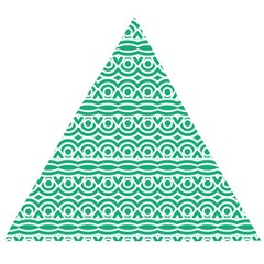 Pattern Green Wooden Puzzle Triangle