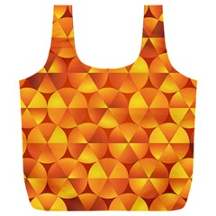 Background Triangle Circle Abstract Full Print Recycle Bag (xxl)