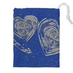 Heart Love Valentines Day Drawstring Pouch (4xl) by HermanTelo
