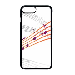 Music Notes Clef Sound Iphone 8 Plus Seamless Case (black)