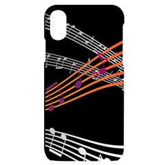 Music Notes Clef Sound Iphone X/xs Black Uv Print Case