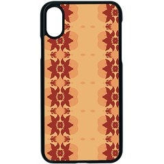 Brown Flower Iphone X Seamless Case (black)
