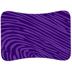 Pattern Texture Purple Velour Seat Head Rest Cushion