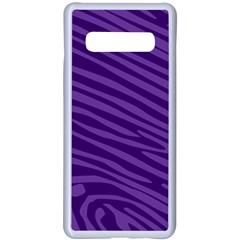 Pattern Texture Purple Samsung Galaxy S10 Plus Seamless Case(white) by Mariart