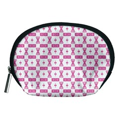 Cute Pattern Pink Background Design Accessory Pouch (medium)