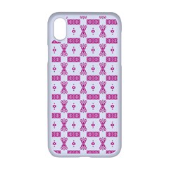 Cute Pattern Pink Background Design Iphone Xr Seamless Case (white)