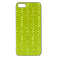 Background Texture Pattern Green Apple Seamless Iphone 5 Case (clear) by HermanTelo