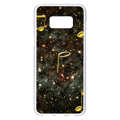 Music Clef Musical Note Background Samsung Galaxy S8 Plus White Seamless Case by HermanTelo