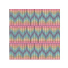 Pattern Background Texture Colorful Small Satin Scarf (square)