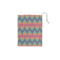Pattern Background Texture Colorful Drawstring Pouch (xs)
