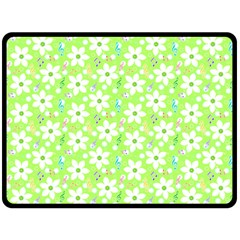 Zephyranthes Candida White Flowers Double Sided Fleece Blanket (large)