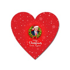 Make Christmas Great Again With Trump Face Maga Heart Magnet by snek