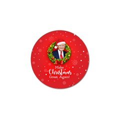 Make Christmas Great Again With Trump Face Maga Golf Ball Marker (10 Pack) by snek