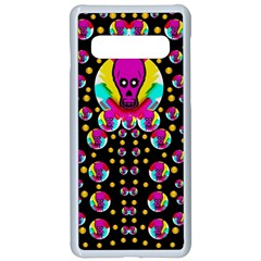 Skull With Many Friends Samsung Galaxy S10 Seamless Case(white)