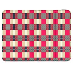 Background Texture Plaid Red Samsung Galaxy Tab 7  P1000 Flip Case