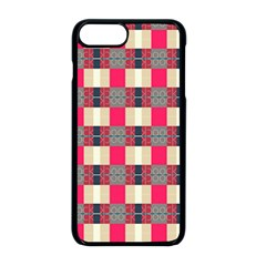 Background Texture Plaid Red Iphone 8 Plus Seamless Case (black)
