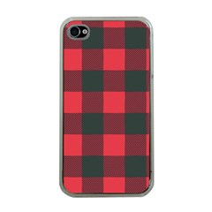 Canadian Lumberjack Red And Black Plaid Canada Iphone 4 Case (clear) by snek
