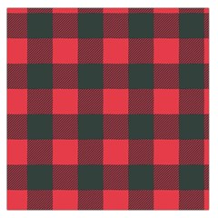 Canadian Lumberjack Red And Black Plaid Canada Large Satin Scarf (square) by snek