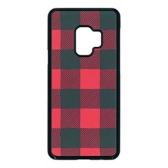 Canadian Lumberjack Red And Black Plaid Canada Samsung Galaxy S9 Seamless Case(black) by snek