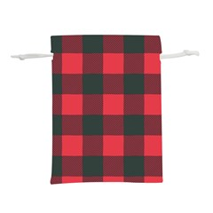 Canadian Lumberjack Red And Black Plaid Canada Lightweight Drawstring Pouch (m) by snek