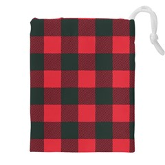 Canadian Lumberjack Red And Black Plaid Canada Drawstring Pouch (4xl) by snek