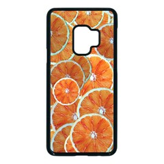 Oranges Background Texture Pattern Samsung Galaxy S9 Seamless Case(black) by HermanTelo