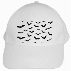 Bats Pattern White Cap by Sobalvarro