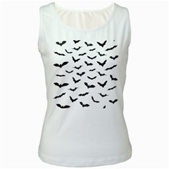 Bats Pattern Women s White Tank Top by Sobalvarro