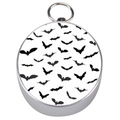 Bats Pattern Silver Compasses by Sobalvarro