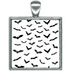Bats Pattern Square Necklace by Sobalvarro