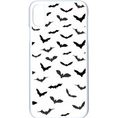 Bats Pattern Iphone Xs Seamless Case (white) by Sobalvarro