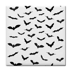 Bats Pattern Tile Coaster by Sobalvarro