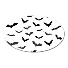 Bats Pattern Oval Magnet by Sobalvarro