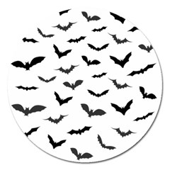 Bats Pattern Magnet 5  (round) by Sobalvarro