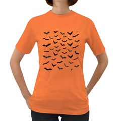 Bats Pattern Women s Dark T-shirt by Sobalvarro