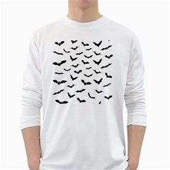 Bats Pattern Long Sleeve T-shirt by Sobalvarro