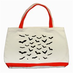 Bats Pattern Classic Tote Bag (red) by Sobalvarro