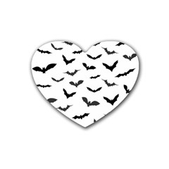Bats Pattern Heart Coaster (4 Pack)  by Sobalvarro