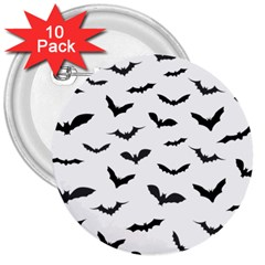 Bats Pattern 3  Buttons (10 Pack)  by Sobalvarro
