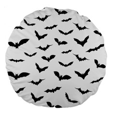 Bats Pattern Large 18  Premium Round Cushions by Sobalvarro