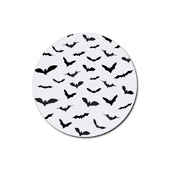 Bats Pattern Rubber Coaster (round)  by Sobalvarro