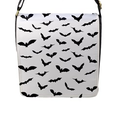 Bats Pattern Flap Closure Messenger Bag (l) by Sobalvarro