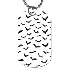 Bats Pattern Dog Tag (one Side) by Sobalvarro