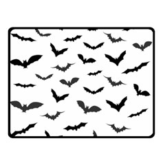 Bats Pattern Double Sided Fleece Blanket (small)  by Sobalvarro