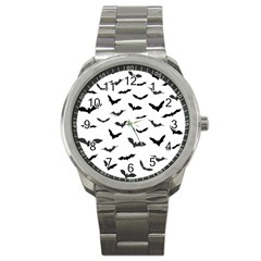 Bats Pattern Sport Metal Watch by Sobalvarro